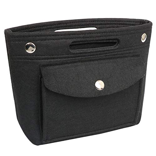 Yoillione Mini Handbag Organizer Insert Tote Bag Organizer,Felt Organizer for Purse Organizer,Fit LV NeoNoe Noe BB Speedy Neverful,Black Small - Felt Bucket