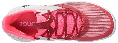 adidas Women's Adizero Defiant Bounce Tennis Shoe Flash red/White/Scarlet 6 M US by adidas (Image #7)