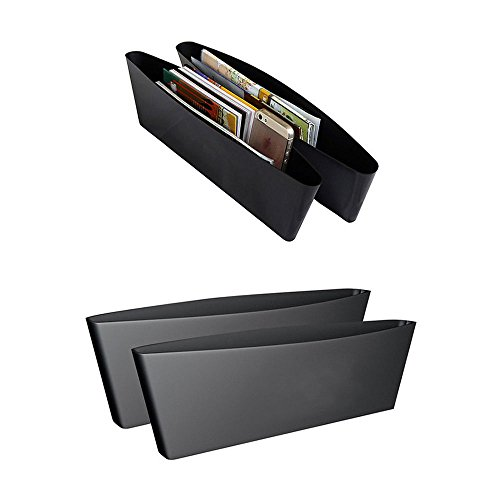 Marketworldcup - 2pc Catch Caddy Box Seat Gap Slit Pocket Storage Auto Car Organizer Holder Black - Harley Davidson Wind Splitter