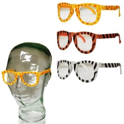 Animal Print Child Size Glasses 12 Pack