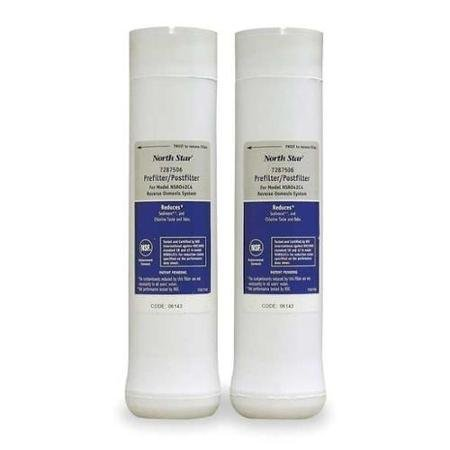 UPC 719918385979, NORTH STAR 7287506 Pre And Post Filter, Reverse Osmosis, PK 2