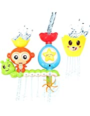 Barwa Bath Toys for Babies, Shower Spray Toys for Toddler Kids Water Shower Bathtub Toy with Stackable and Nesting Cups, for Kids Baby from 18 Months & +