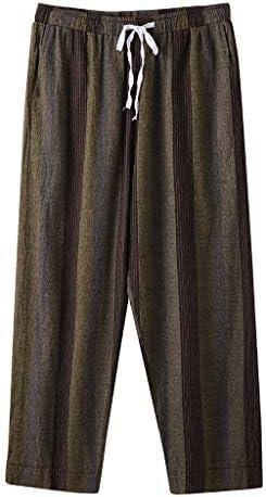 Men`s Cotton Linen Jogger Pants Elastic Waist Hippie Drop Crotch Ethnic Style Loose Harem Pants / Men`s Cotton Linen Jogger Pants Elastic Waist Hippie Drop Crotch Ethnic Style Loose Harem Pants