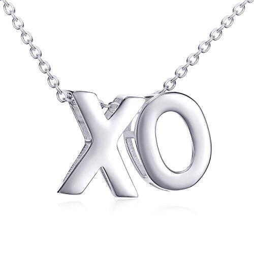 Hugs and Kisses XO Necklace 925 Sterling (Xo Hugs Kisses)