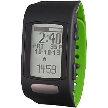 LifeTrak Move C300 24-hour Heart Rate Watch, Black/Woodland Green