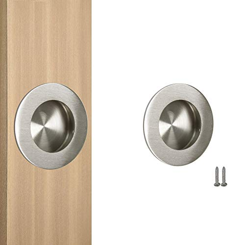 Probrico Recessed Stainless Steel Flush Pull Handle, Round, ()