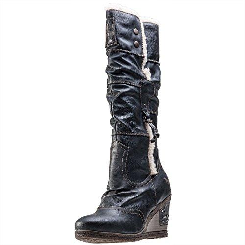 MustangFur Lined Knee High - Zapatillas altas mujer