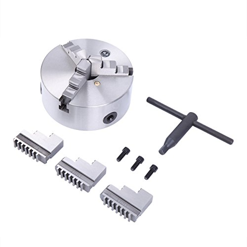 recision Self-Centering Lathe Chuck 6 Inch 3 Jaw High-accuracy Lathe Fixture Self Centering Chuck for Lathe with 2 sets Jaw ()