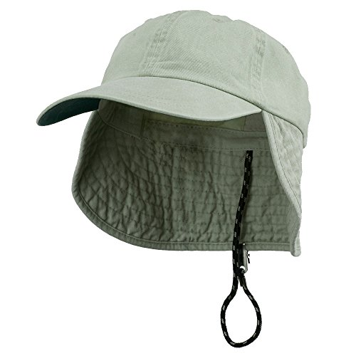 Washed Cotton Flap Hat-Putty OSFM (E4hats Cotton Flap Hat)