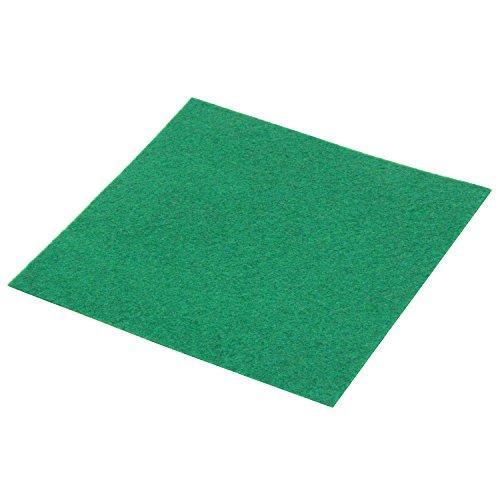 サンアミカ 手芸・教材用 アイロン接着フェルト 約10×10cm 厚さ約1mm グリーン SHFA-440の商品画像