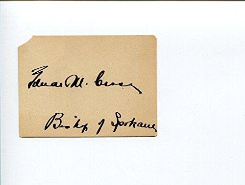 Edward Makin Cross WA Washington Spokane Episcopal Bishop 1900s Signed - 1900s Signed