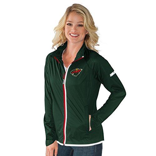 Nhl Minnesota Wild Womens Batter Light Weight Full Zip Jacket  Medium  Forest