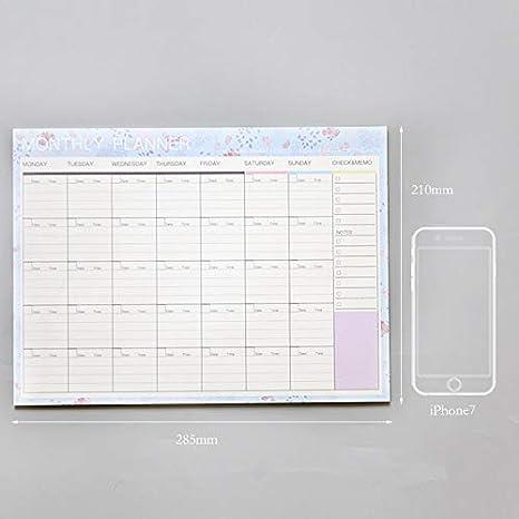 Dart3089 Cuaderno planificador semanal Grande Kawaii Diario ...