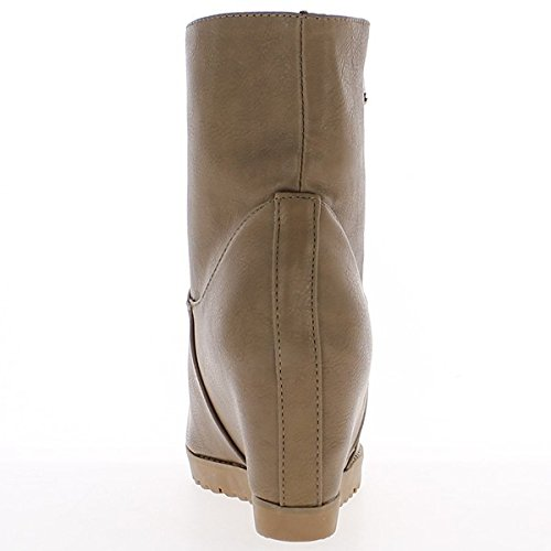 Stivali tacco invisibile talpa 8cm e spesse suole