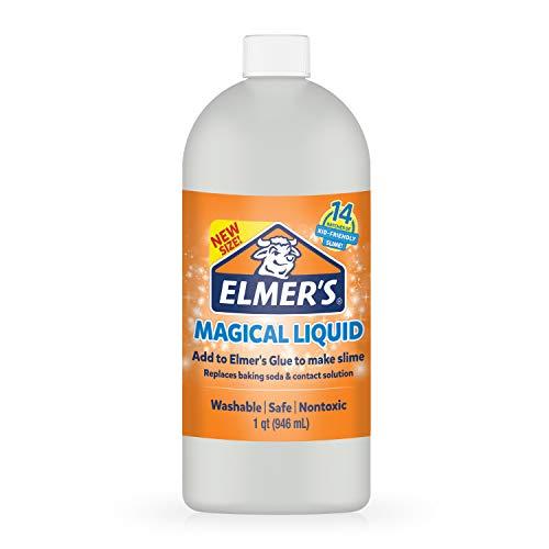 Elmer's Glue Slime Magical Liquid Activator Solution, 1 Quart, Great for Making Slime