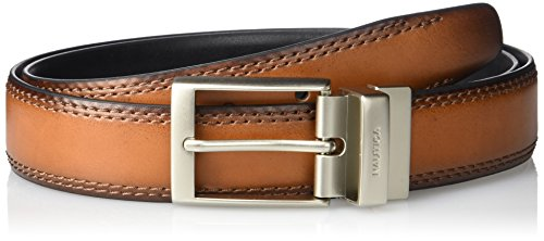 Nautica Men's 1 3/8 In. Leather Reversible Belt, Tan/black, 34 (Leather Tan Reversible)
