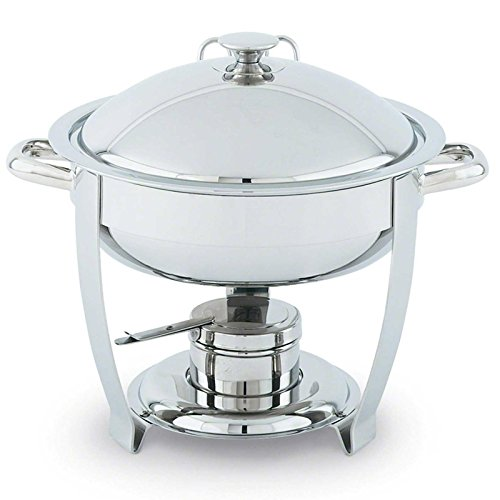 Orion Small Round Mirror Finish S/S Lift-Off Chafer, 4 Qt