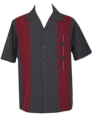 Mens Retro Camp Short-Sleeve Bowling Shirt DiVino