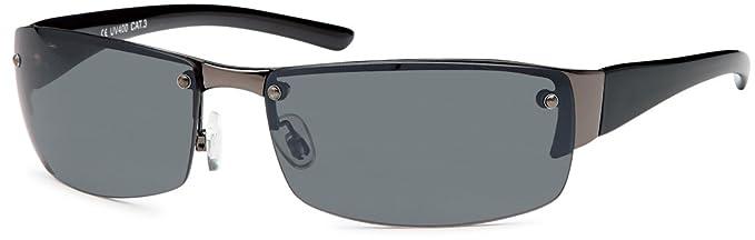 Unisex Sonnenbrille Monoscheibe mit verspiegelten Gläsern UV400 Filter- Im Set mit Etui (rubber touch weiß) ujBYwmjBO7