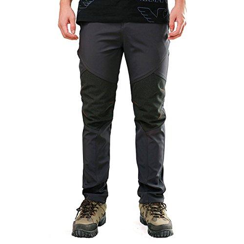 BUAAM Men's/Women's/Girl's/Boy's Winter Sportswear Fleece layer Skiing Pants X-Large Grey