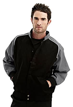 Tri-mountain TMR cotton twill jacket with nylon lining. - CHARCOAL/BLACK - 2XLT