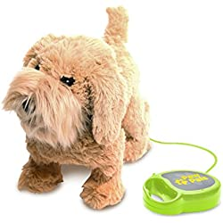 Meva PawPals Kids Walking and Barking Puppy Dog Toy Pet with Remote Control Leash ... (Brown)