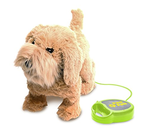 Meva PawPals Kids Walking and Barking Puppy Dog Toy Pet with Remote Control Leash ... (Brown) (Best Friend Max Walking Dog)