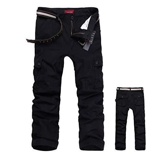Hommes Pantalon Cargo Pantalon de Travail Style Militaire, Casual Pantalon Multi Poche Cargo Sports De Combat Pantalons… 3
