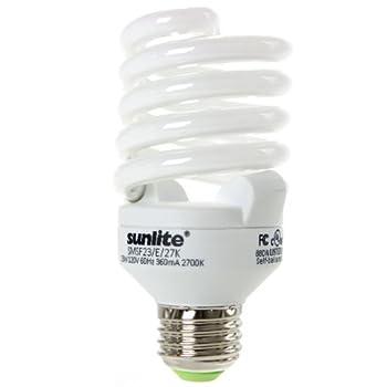 Sunlite SMS23F/E/65K/CD 23 Watt Super Mini Spiral Energy Star Certified CFL Light Bulb Medium Base Daylight