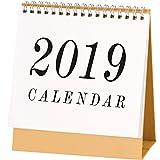 January 2019 to December 2019 Desk Monthly Calendar with Stand, Desktop Calendar Monthly Planner Daily Calendar Planner for School, Classroom, Home Use (Medium)