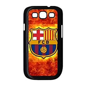 Barcelona Football 004 plastic funda Samsung Galaxy S3 9300 cell phone case funda black cell phone case funda cover ALILIZHIA13639