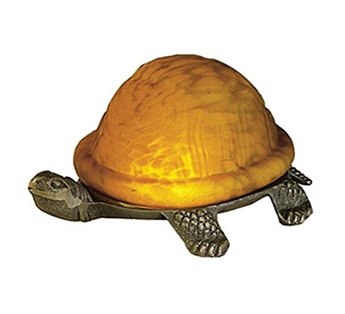 "Meyda Tiffany 18004 Turtle Art Glass Accent Lamp, 4"" H from Meyda Tiffany"