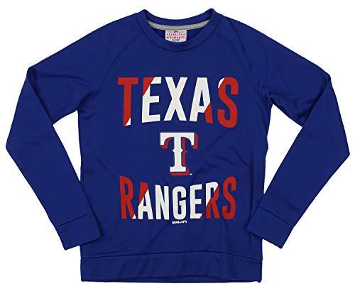 Fleece Texas Rangers Pullover - Outerstuff MLB Rangers Boys 8-20 Performance Fleece Crew Neck LS TOP 20-XL