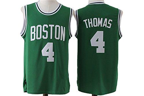Mens Isaiah Thomas #4 Boston Celtics Retro Stitched Jersey Green L