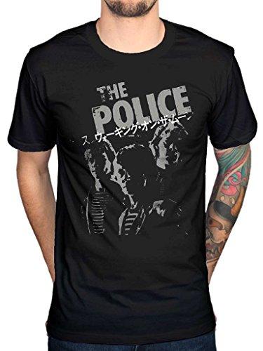 Japanese Band Rock - AWDIP Men's Official The Police Japanese T-Shirt Rock Band Sting Punk Jazz Band