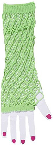 Forum Novelties Women's Club Candy Double Fishnet Novelty Glovelettes, Green, One Size for $<!--$7.98-->