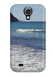 Galaxy S4 Case Cover - Slim Fit Tpu Protector Shock Absorbent Case (beach S)