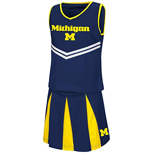 Colosseum Youth NCAA-Girls Cheer Set-Michigan Wolverines-Youth Medium