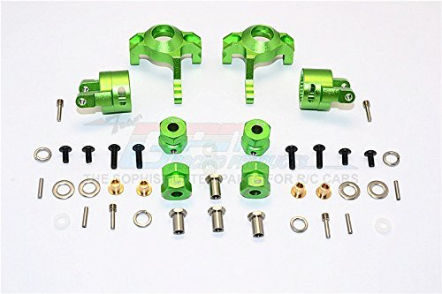 Axial RR10 Bomber & Wraith Aggiornamento Parti Aluminium Front C-Hub & Knuckle Arm (5 Degree Caster) - 4Pcs Set verde