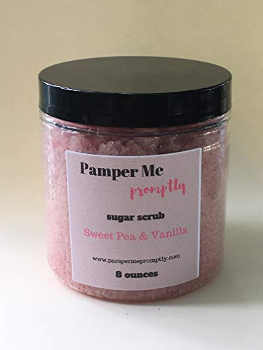 Sweet Pea and Vanilla Body Scrub by Pamper Me Promptly