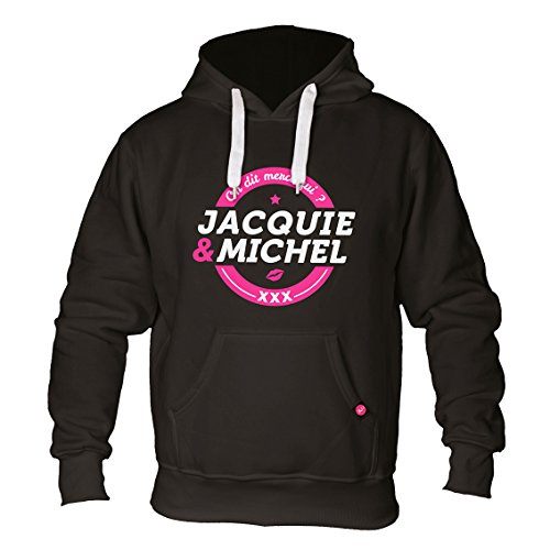 Michel Jacquie Noir Logo Sweat Coton Shirt Homme Et HxfwxqTg