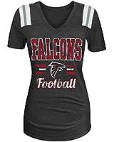NFL Ladies Tri- Blend Short Sleeve V-Neck Tee with Team Color Shoulder Inserts