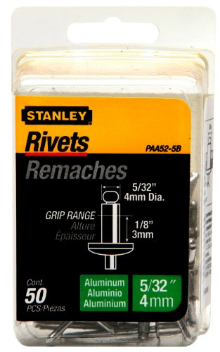 Stanley PAA52-5B 50-Pack 5/32-Inch x 1/8-Inch Aluminum Grip Rivets ()