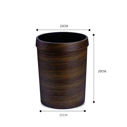 HQLCX-Rubbish Bin Rubbish Bin European Antique Wood Imitation Plastic Trash Cans Household Kitchen And Toilet Hotel Sanitary Pail by HQLCX-Rubbish Bin (Image #2)