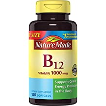 Nature Made Vitamin B-12 Value Size Softgel, 1000 mcg, 150 Count
