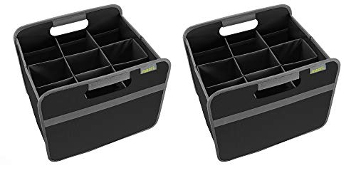 meori Wine Carriers/Lava Black 9 Slot Carry Store Tastings Grocery Shopping (2Pack)