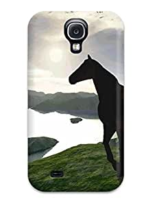Awesome IzYgYUM5389wODQU DebAA Defender Tpu Hard Case Cover For Galaxy S4- 3d Horse