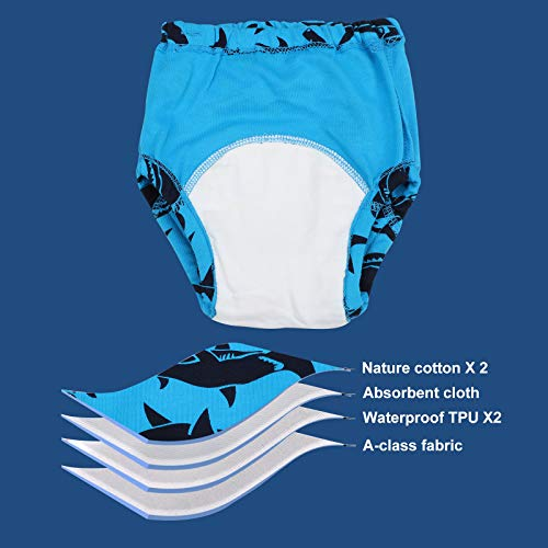 6 Packs Cotton Training Pants Reusable Toddler Potty Training Underwear for Boy and Girl Dinosaur-3T