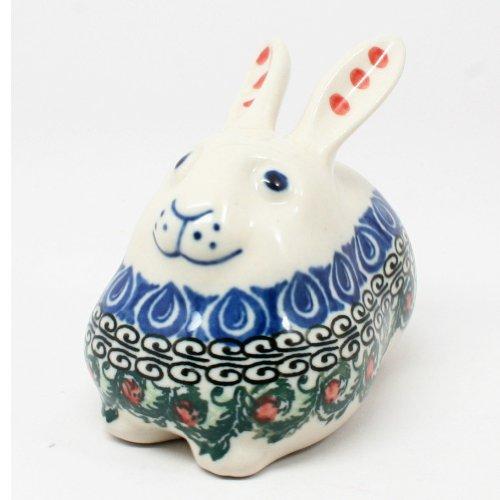Polish Pottery Miniature Bunny Rabbit #1624