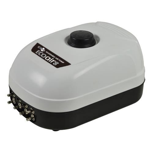 Adjustable 380 GPH EcoPlus Eco Air 8  Eight Outlet 13 Watt Adjustable 380 GPH